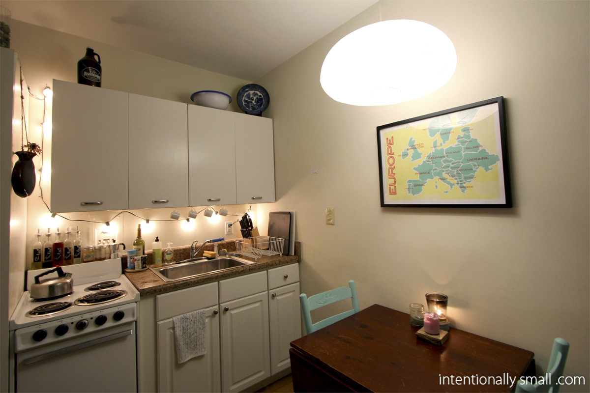 String Lights For Under Cabinets : Lighting a Small Space Intentionally Small