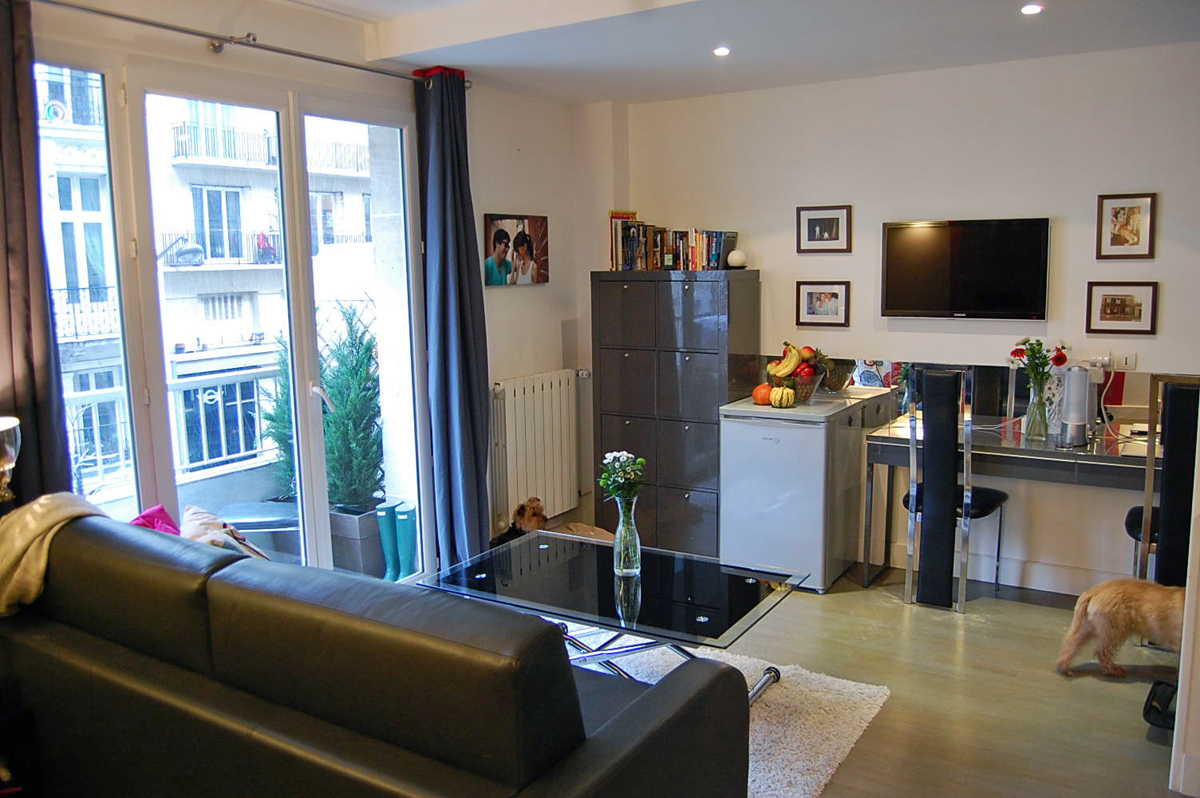 Joel and jessica s 265 sqft studio in paris for Apartment decorating