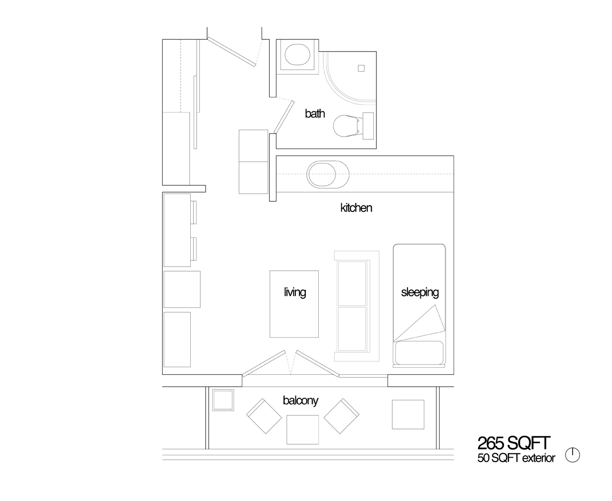 Joel and Jessicas 265 sqft Studio in Paris 15 - Plans