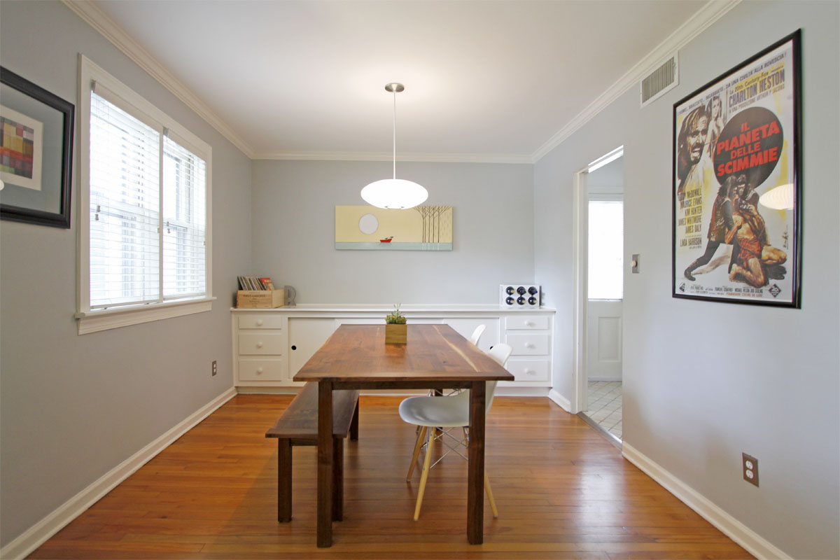 Stacey and Ben's 920 sqft Raleigh Townhome 05