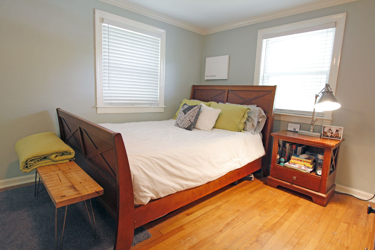 Stacey and Ben's 920 sqft Raleigh Townhome 13