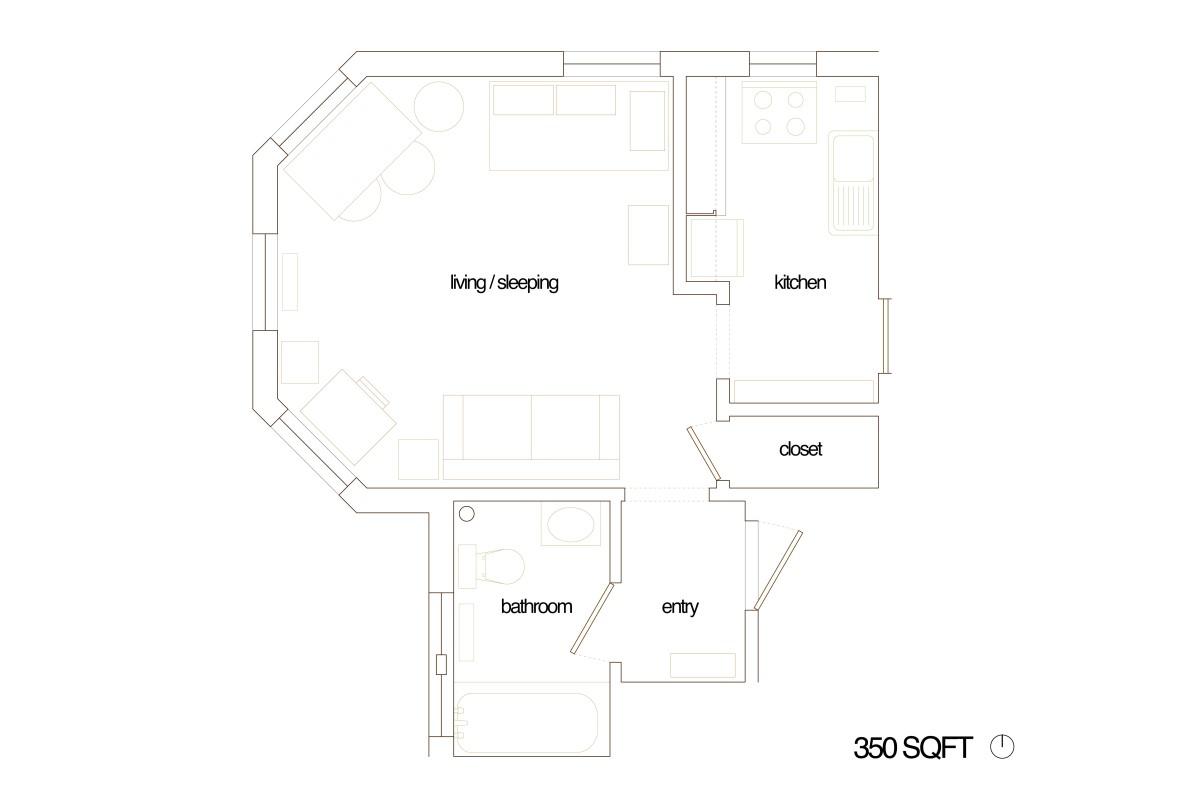 Jennys Studio Apt Plans